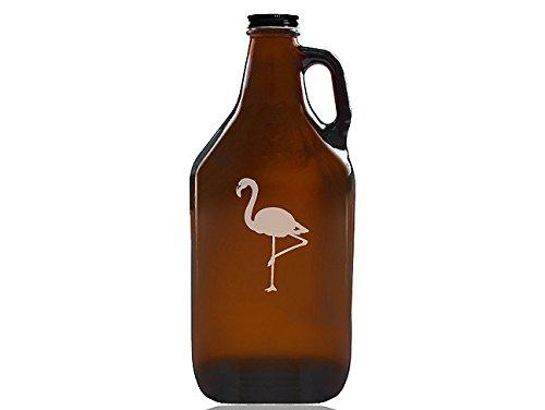 "Chloe and Madison""Flamingo"" Beer Amber Growler"