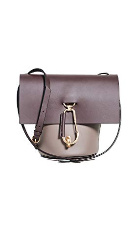 Leather: Cowhide Structured silhouette, Colorblock design and brushed hardware Length: 10.75in / 27cm Height: 9.5in / 24cm Carabiner clip closure