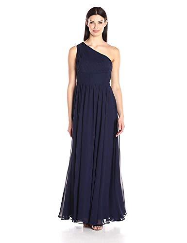 Eliza J womensEJ7M4115-1One Shoulder Shirred Inset Waist Gown Sleeveless Dress - Blue - 16
