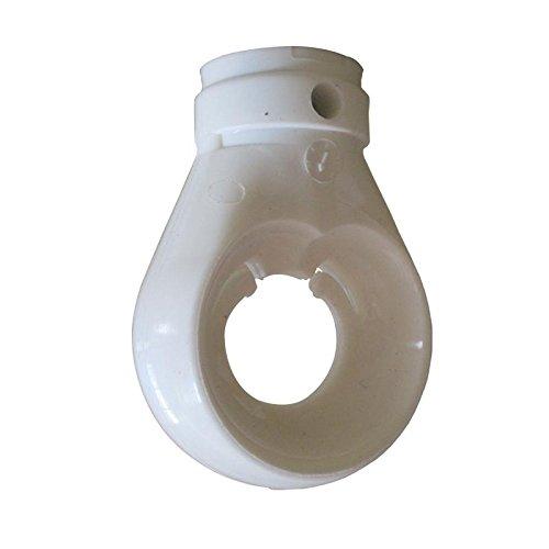 Kugelöse Kugelkopföse für Markise Kunststoff Weiß 12 mm Bohrung Öse für Markise mit Kugelhaken