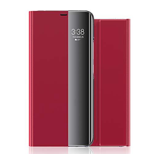 Huawei P40 Tasche Hülle Handyschale Gehäuse Ledertasche Lederetui Lederhülle Handytasche Handyhülle Leder Case Cover Etui Flip Schutzhülle Kompatibel mit Huawei P40 (4)