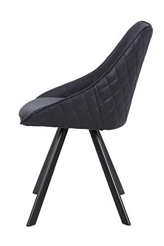 One Couture Silla de Comedor, Negro, 61cm x 50cm x 83cm
