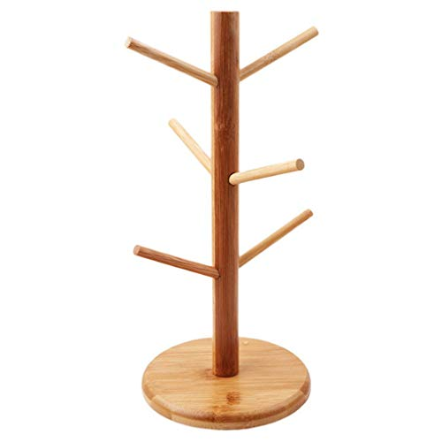 PULABOOriginal Bamboo Removable Tree Coffee Cup/Tea Cup Display Stand Comfortable and Environmentally