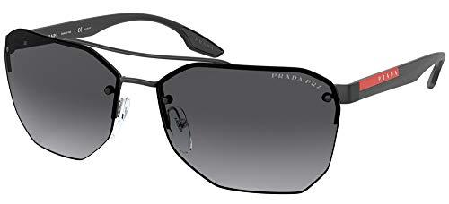 Prada Sport PS54VS - Gafas de sol para hombre (63 mm), color negro mate