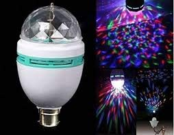 LIFE'S BETTER Haven's Treasure 360 Degree LED Crystal Rotating Bulb Magic Disco, Light Lamp for Home/Diwali Decoration