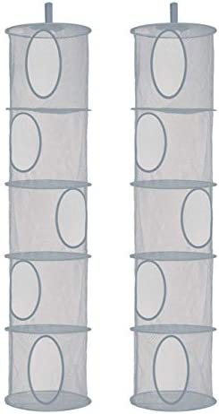 Libeder Mesh Hanging Storage Space Saver Bags Organizer Foldable Storage Organizer 5 Compartments product image