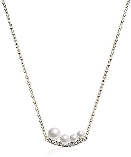 LBBYLFFF Collar para Mujer Collar Mujer Personalidad Collar joyería esférica Collar Temperamento romántico Cien Conjuntos Collar Colgante Collar Regalo para