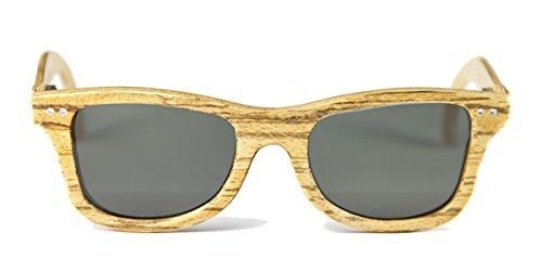 Gafas de madera Regular Zebrano Lente Gris Neutra - FELER