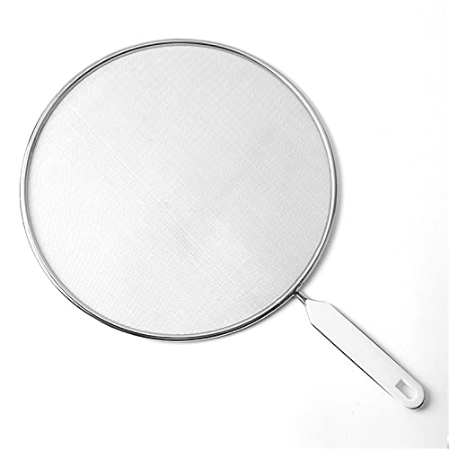 MOZHIXUE Kitchen sieve for laptop flour with stainless steel oil grid mesh filter uliotable kitchen filtration and drainage,Silver