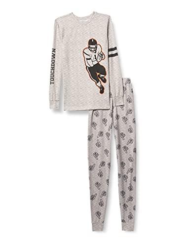 Petit Lem Boy 2Pc Pj Set: L/S Top and Pant Knit, 901 Light Grey, 4