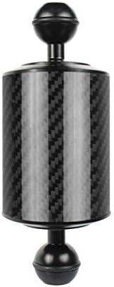 XTXINTE Onderwaterfotografie vlotter arm van koolstofvezel drijfvermogen lamp arm D60 mm dubbele accessoires draagbare versie 5 Inch Black