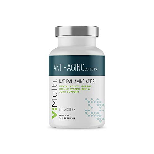 ViMulti Anti-Aging Best Natural Amino Acid Supplement for Healthy Aging and Longevity – Clinically Proven - Supports Mental Acuity, Immune System, Muscle Tone & Skin Plus Natural Energy & Endurance
