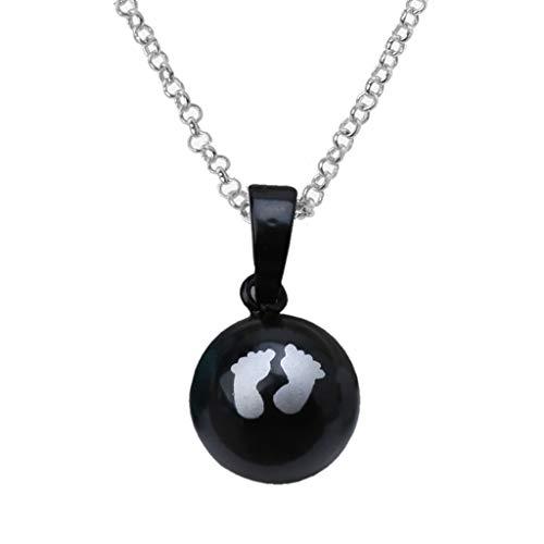 SKYVII Baby Footprints - Collar con colgante de bola con colgante de bola de armonía