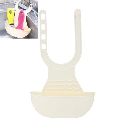 Cafopgrill sponshouder wastafel Caddy keukenborstel zeep afwasmiddel afdruiprek rek draagbare verstelbare ophanging afvoerzak mand voor keuken wastafel