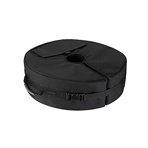 QIMEI-SHOP Regenschirm Base Weight Bag Patio Beach Runder Zeltbodengewicht Tasche 600D Oxford Tuch Sandsack Gewicht für Partyzelt Faltpavillon bis zu 80 Pfund Sand 46 x 15 cm