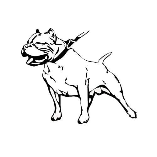 MBNMDFEGGJM 3 Piezas de Pegatinas de Coche 14,6 * 12,1 CM American Bully Pet Dog Pegatinas Reflectantes Impermeables para Ordenador portátil, Bicicleta, Guitarra,...