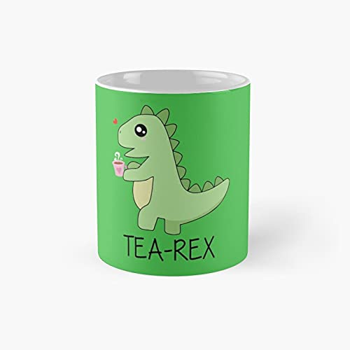 Tea Rex Christmas Dinosaur Tree Rex Classic Mug - Ceramic Coffee White (11 Ounce) Cup Gifts For Bestie, Mom And Dad, Lover, Lgbt