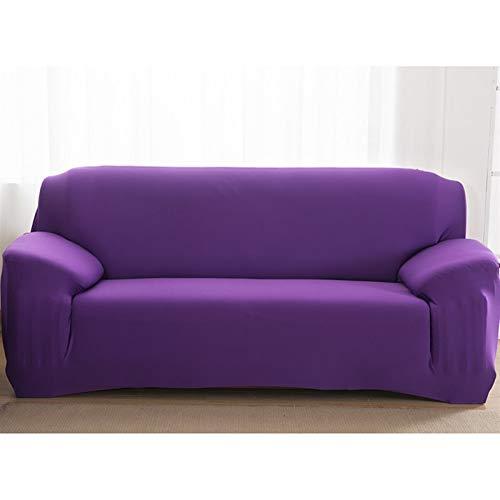 Fundas de color sólido liso Sofá cubierta de sofá Sofá Fundas para sala de estar cubierta de sofá Sofá Silla de toalla Sofá cubierta Sofá Funda ( Color : Purple , Specification : 4 seater 235 300cm )
