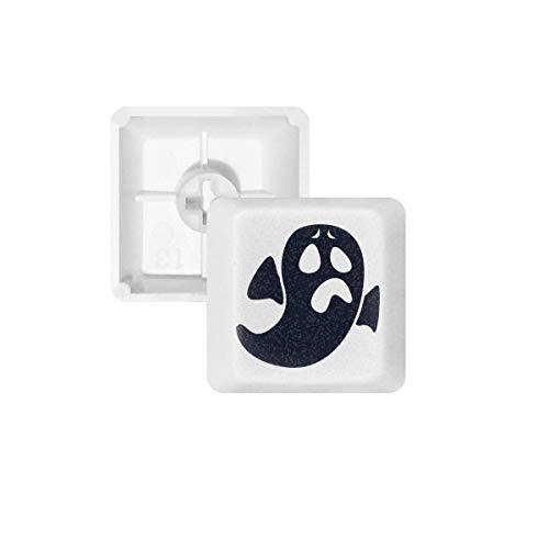 DIYthinker El Fantasma De Halloween Preocupado Teclas Pbt Emoji para Teclado Mecánico Blanco OEM Sin Marca De Impresión