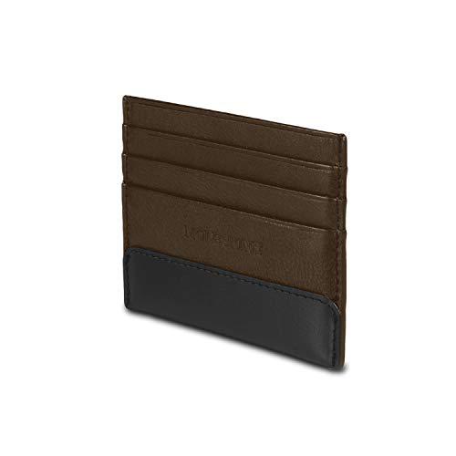 Moleskine - Cartera de piel para tarjetas