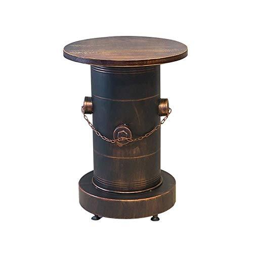 Vintage Bar Stuhl Ölfass Tische und Stühle Eisen Vintage Lagerhocker Industriestil Café Freizeit Öltrommel Kombination Barhocker 0305 (Größe: Kombinationssatz B) (Size : Table)