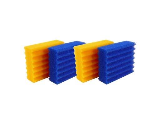 Pondlife Ersatzteil für CBF-Teichfilter - CBF-350 Ersatz-Filterschwämme 2X blau, 2X gelb