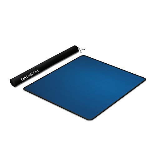Mahjong Mat - Plusvivo Anti Slip and Noise Reduction Table Cover for Mahjon Paigow Poker Dominos 32.6' x 32.6'(83cm x 83cm) Blue