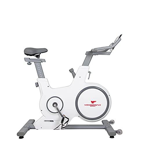 Bicicleta Estática para Interior Fitness | Diseño y Calidad | Ajuste de resistencia sin niveles | Monitor digital | 10 niveles de ajuste de altura con Rueda