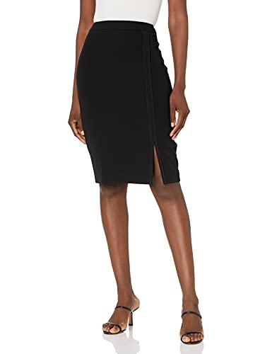 Tommy Hilfiger Women's A-Line Skirt, Black, 4