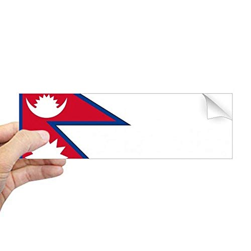 DIYthinker Nepal Nationale Vlag Azië Land Rechthoek Bumper Sticker Notebook Window Decal