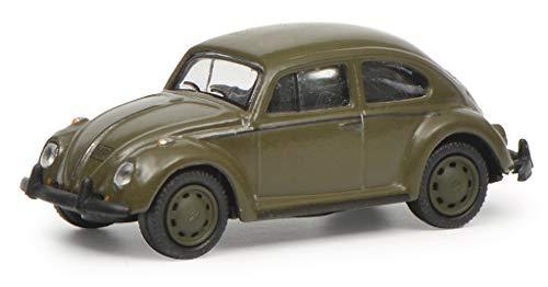 Schuco 452643100 VW Käfer 1200 Bundeswehr 1:87 452643100-VW, Modellauto, Modellfahrzeug, grün