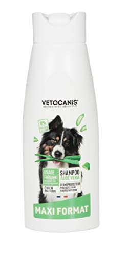Vetocanis - Champú con Aloe Vera para Perro, Uso frecuente, 0% de parabeno, 0% de Silicona, con Aloe Vera, Formato 750 ml 🔥