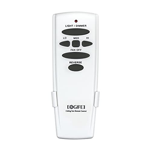 Eogifee Ceiling Fan Remote Control of Replacement for Hampton Bay UC7078T with Light Dimmer, Reverse Direction,3-Speed Control Compatible with CHQ7078T,CHQ8BT7078TCHQ8BT7078,HD6