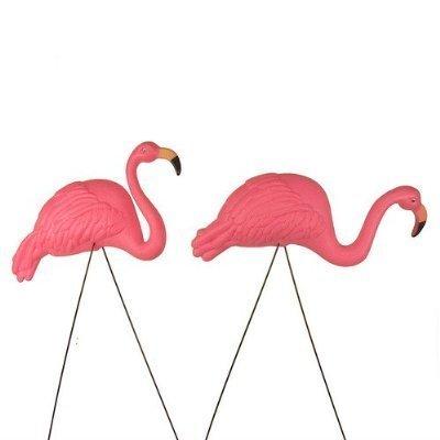 Bright Pink Flamingo Yard Ornament (2pack)