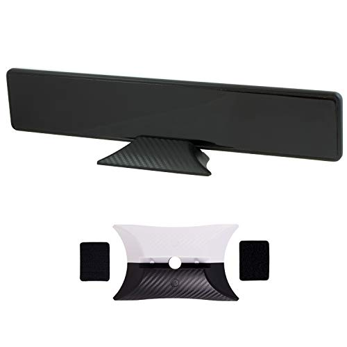 Pro Bar Indoor TV Antenna, Modern Design, TV Antenna for Entertainment Center and Home Decor, Digital, HDTV Antenna, Smart TV, 4K 1080p VHF UHF, Coax Cable, Reversible Black White - GE 33683