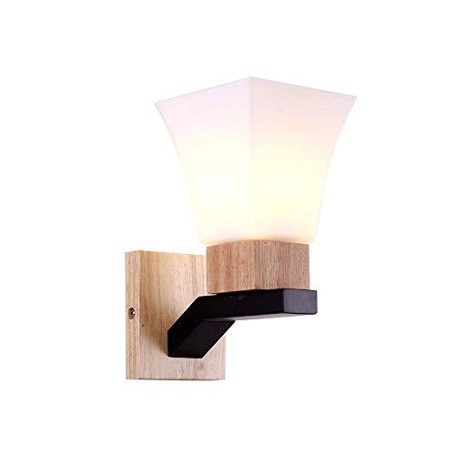 Europeo De Madera Lámpara De Pared Simple Moderna del Poste De Televisión Villa Lámpara De Cabecera De La Sala Dormitorio Corredor Escalera Balcón Hotel En Mallorca Lugar Decoración del Hogar LED