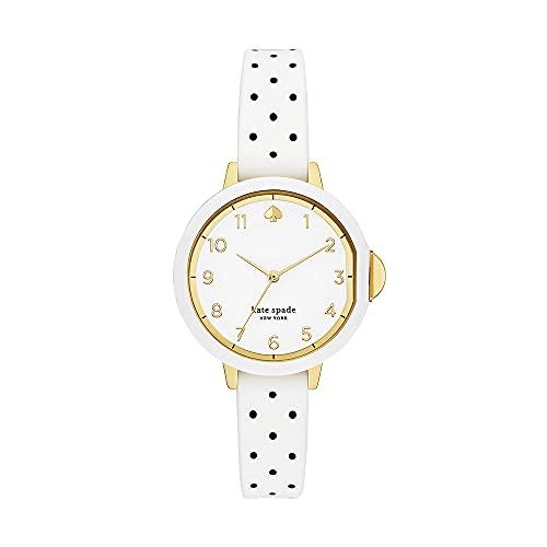 Kate Spade Damen-Uhren Analog One Size Gold/Weiß 32017198