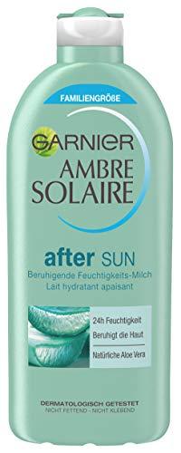 Garnier After Sun Lotion mit Aloe Vera, Kühlende Bodylotion, Ambre Solaire After Sun Beruhigende Feuchtigkeits-Milch, 1 x 400 ml