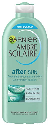 Garnier Ambre Solaire After Sun Feuchtigkeits-Milch, Sonnenschutz, After Sun Lotion mit Aloe Vera, Beruhigt und Kühlt, 400 ml