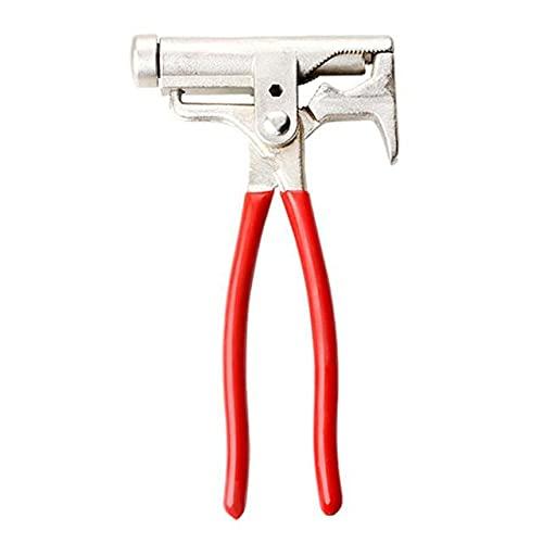 Esporádico 10 en 1 martillo multifuncional destornillador pistola de clavos alicates de tubería llave herramienta de mantenimiento de muebles martillo universal-China, rojo
