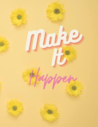 Make it happen: Floral Netbook (Composition Book Journal)
