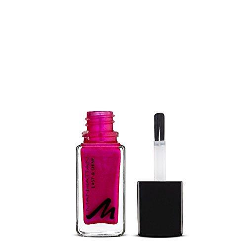 Manhattan Last & Shine Nagellack, Knallig pinker, glänzender Nail Polish für 10 Tage perfekten Halt, Farbe Meow-Tyful 350, 1 x 10ml