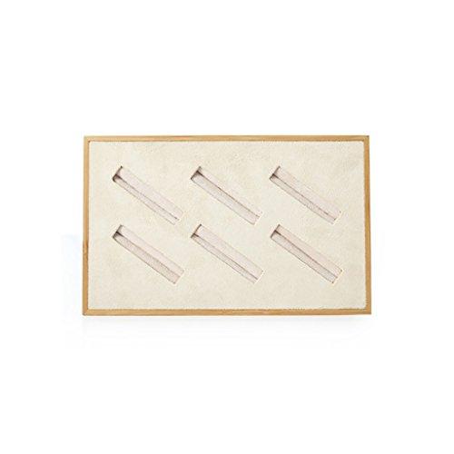 JeweR Schmuck Display-Ständer Bracket Fach Multifunktions-Aufbewahrungsbox Bambus Holzgitter einfache Geometrie (größe : 6 grids)