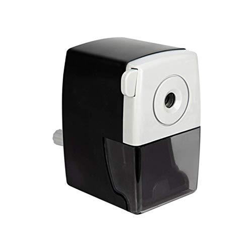 Sacapuntas rotatorio de escritorio de manivela cortador de papelería para niños niños negro