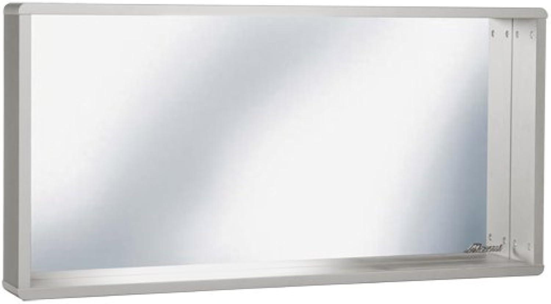 Miami 745701HG Wandspiegel mit Rahmen und Ablage, Holz, hellgrau, 13 x 110 x 55 cm