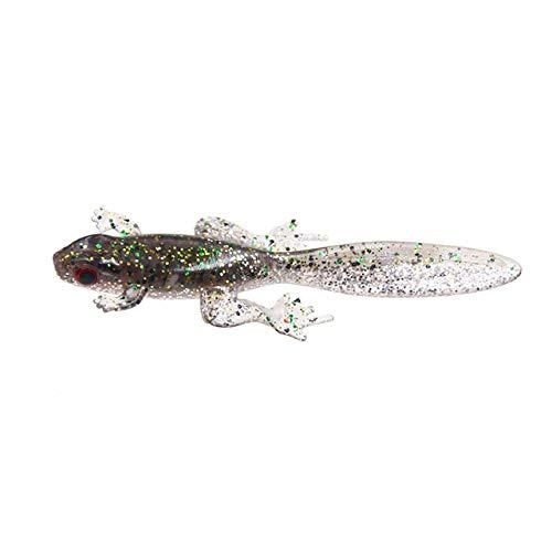 CHASO 3 Stücke Angeln Weichen Köder Silikon Künstliche Köder Wurm Tintenfisch Kurbel Köder 3D Laser Augen 80Mm 3,5G Karpfen Angelgerät 5
