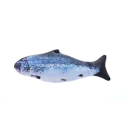 Cosye Elektrische Simulation Fisch Neutral Kristall Superweicher Stoff 3D-Druck Haustier Plüschtiere Lustige Katze Minze Fischspielzeug