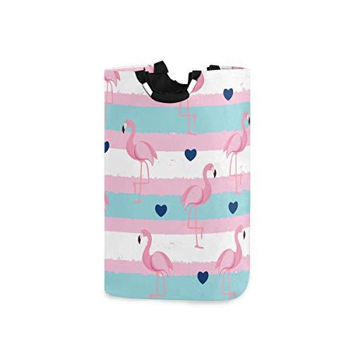 N\A Cesto de lavandería, Cubo, flamencos Rosados, Plegable, cesto de lavandería, cesto de Lavado para Organizador del hogar, Almacenamiento de guardería, cesto para bebé, habitación para niños