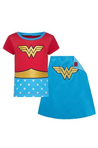 DC Comics Camiseta de Manga Corta de Wonder Woman con Capa