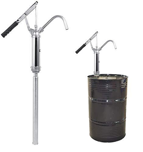 Ölfaßpumpe Hebelfasspumpe Fasspumpe Flüssigpumpe, Pumpe, Handpumpe für Ölpumpe Benzinpumpe Diesel Fuel Tool, Chrome vergoldet 55 Gallone Trommel mit abnehmbare Düse